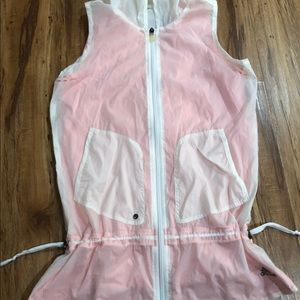 Adidas white and pink vest small active